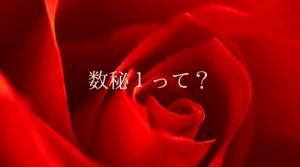 数秘1(レッド)