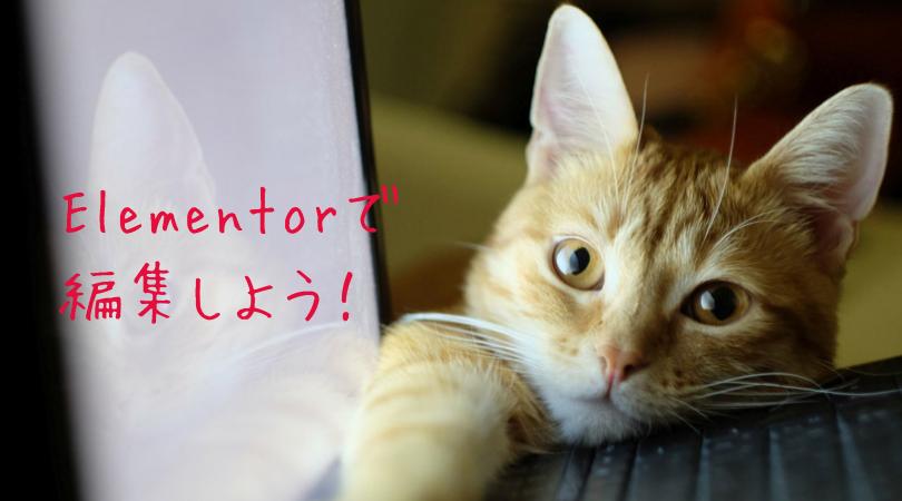 Elementorで編集しよう(WordPress)