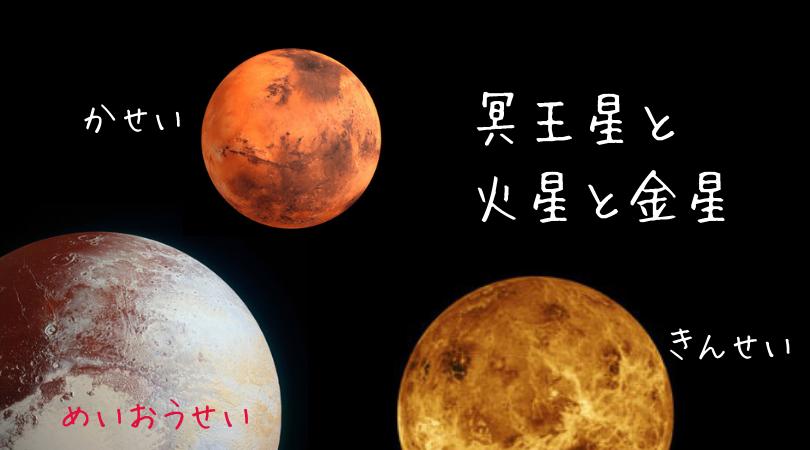 冥王星と金星と火星のグランドトライン