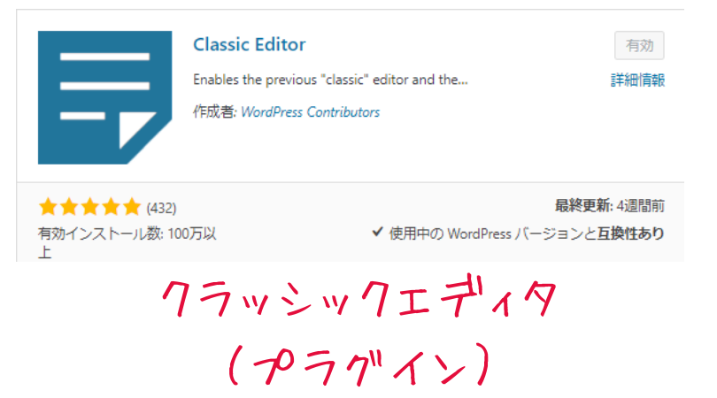 WordPressのクラッシックエディタ