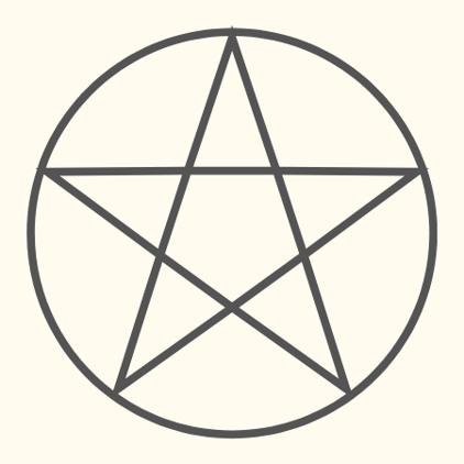 5角の星形